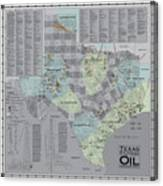 Texas - Birthplace Of The Modern Oil Industry Canvas Print