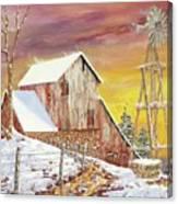 Texas Coldfront Canvas Print