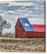 Texas Flag Barn #1 Canvas Print