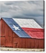 Texas Flag Barn #3 Canvas Print