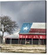Texas Flag Barn #4 Canvas Print