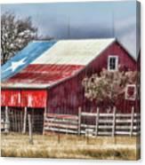 Texas Flag Barn #6 Canvas Print