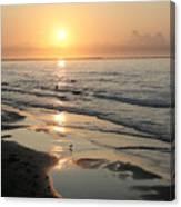 Texas Gulf Coast At Sunrise Canvas Print