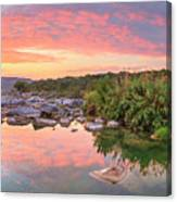 Texas Hill Country Morning Along The Pedernales 2 Canvas Print