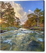 Texas Hill Country Pedernales Sunrise 1014-3 Canvas Print