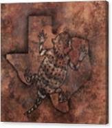 Texas Horned Toad Canvas Print