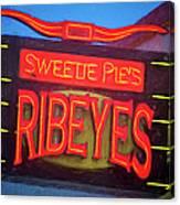 Texas Impressions Sweetie Pie's Ribeyes Canvas Print