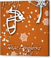 Texas Longhorns Christmas Card Canvas Print