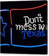 Texas Neon Sign Canvas Print
