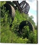 Texas Railway And Tires Canvas Print