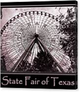 Texas Star Copper Poster Canvas Print