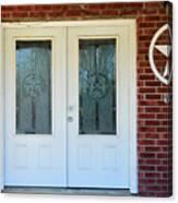 Texas Star Double Doors Canvas Print