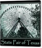 Texas Star Aqua Poster Canvas Print