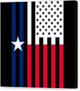 Texas State Flag Graphic Usa Styling Canvas Print
