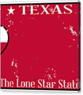 Texas State License Plate With Damage Canvas Print
