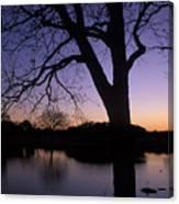 Texas Sunset On The Lake Canvas Print