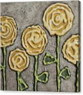 Texture Blooms In Sunshine Canvas Print
