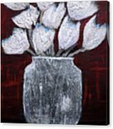 Textured Blooms Canvas Print