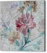 Textured Florals No.1 Canvas Print