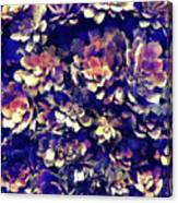 Textured Garden Succulents Canvas Print