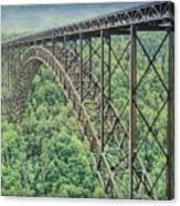 Textured New River Gorge Bridge Canvas Print