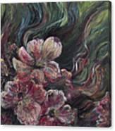 Textured Pink Petals Canvas Print