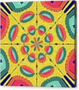 Textured Tropical Mandala Canvas Print