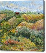 Textured Tuscan Hills Canvas Print