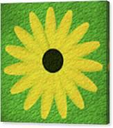 Textured Yellow Daisy Canvas Print