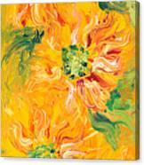 Textured Yellow Sunflowers Canvas Print