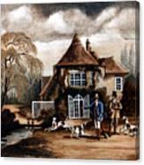 Th Hunting Lodge. Canvas Print