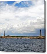 Thacher Island Twin Lights Storm Coming In Canvas Print
