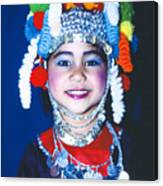 Thai Girl Traditionally Dressed Canvas Print