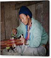 Thai Weaving Tradition Canvas Print