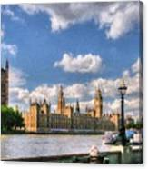 Thames River In London # 3 Canvas Print