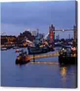 Thames Riverside Canvas Print
