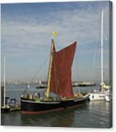 Thames Sailing Barge 'alice' Canvas Print
