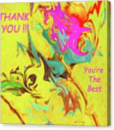 Thank You Card Abstract Lilac Breasted Roller Canvas Print