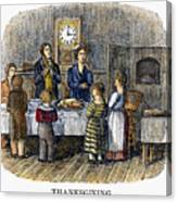 Thanksgiving, 1853 Canvas Print