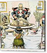 Thanksgiving Cartoon, 1898 Canvas Print