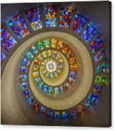 Thanksgiving Chapel Stained Glass Canvas Print