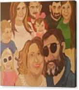 That Crazy Family Canvas Print
