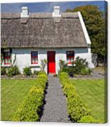 Thatch Roof Cottage Ireland Canvas Print