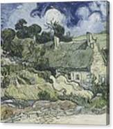 Thatched Cottages At Cordeville Canvas Print