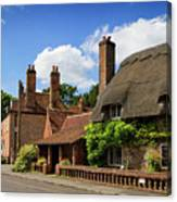 Thatched Cottages In Chawton 6 Canvas Print