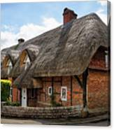 Thatched Cottages In Chawton Canvas Print