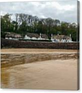 Thatched Cottages In Dunmore East Ireland  Canvas Print