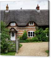 Thatched Cottages Of Hampshire 11 Canvas Print