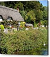 Thatched Cottages Of Hampshire 16 Canvas Print