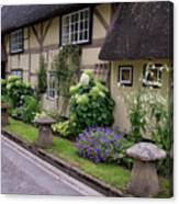 Thatched Cottages Of Hampshire 24 Canvas Print